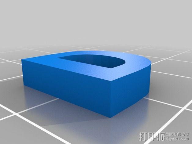 英文字母和数字模型 3D模型  图14