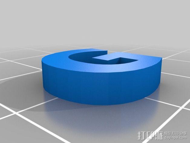 英文字母和数字模型 3D模型  图16