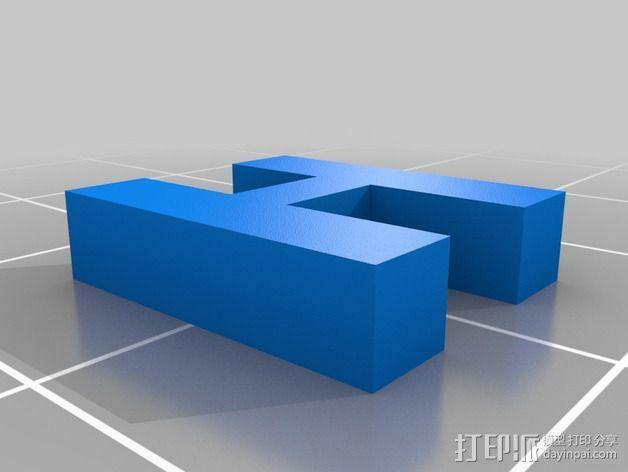 英文字母和数字模型 3D模型  图17