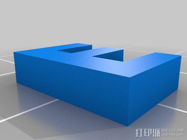 英文字母和数字模型 3D模型  图18