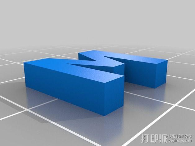 英文字母和数字模型 3D模型  图23