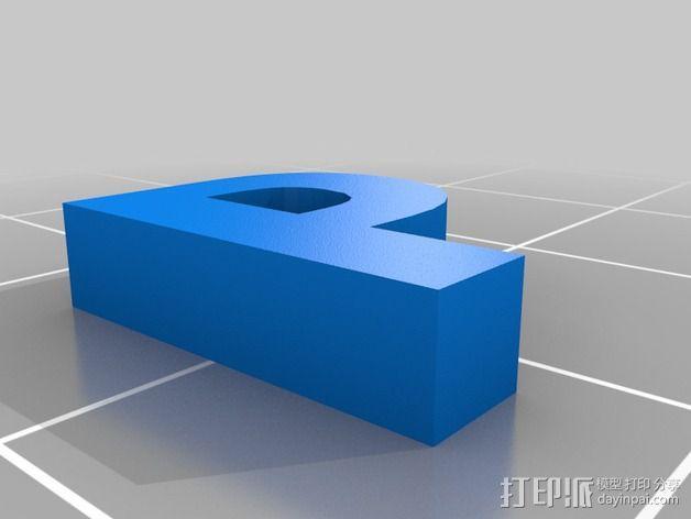 英文字母和数字模型 3D模型  图25