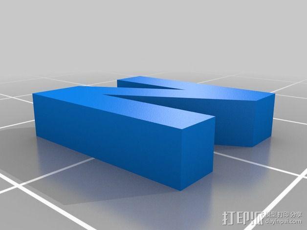 英文字母和数字模型 3D模型  图24