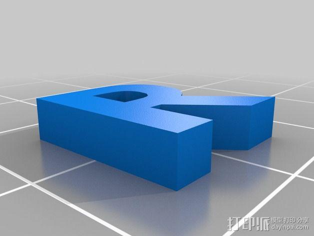 英文字母和数字模型 3D模型  图28