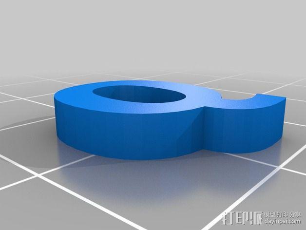 英文字母和数字模型 3D模型  图26