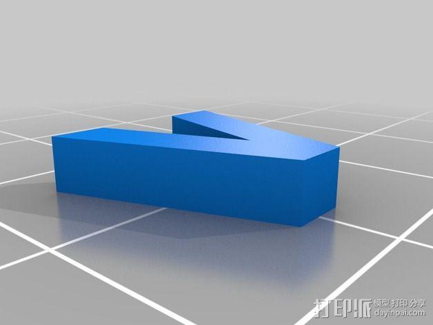 英文字母和数字模型 3D模型  图31