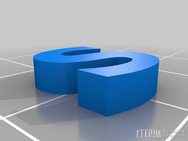 英文字母和数字模型 3D模型  图29