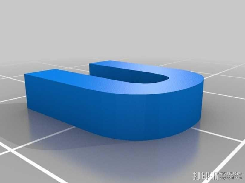 英文字母和数字模型 3D模型  图34