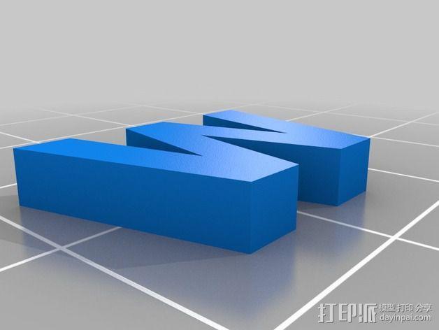 英文字母和数字模型 3D模型  图32