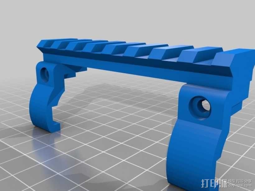 皮卡汀尼导轨 支架 3D模型  图3