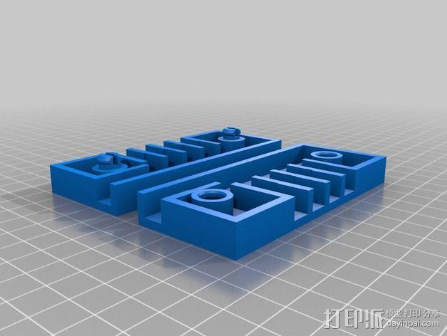 参数化接线盒 3D模型  图2