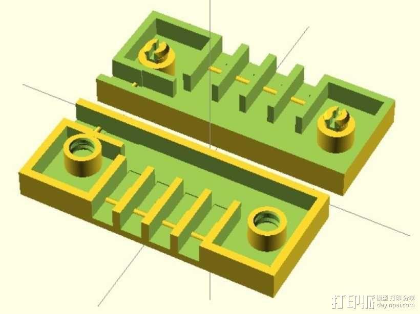 参数化接线盒 3D模型  图1