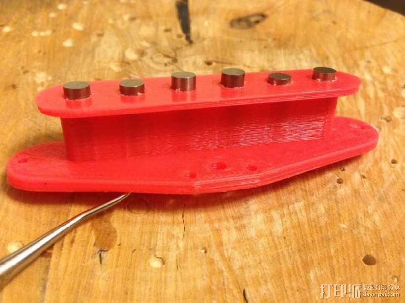 电吉他 拾音器支架 3D模型  图1