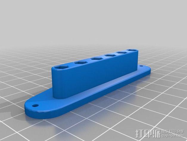 电吉他 拾音器支架 3D模型  图3