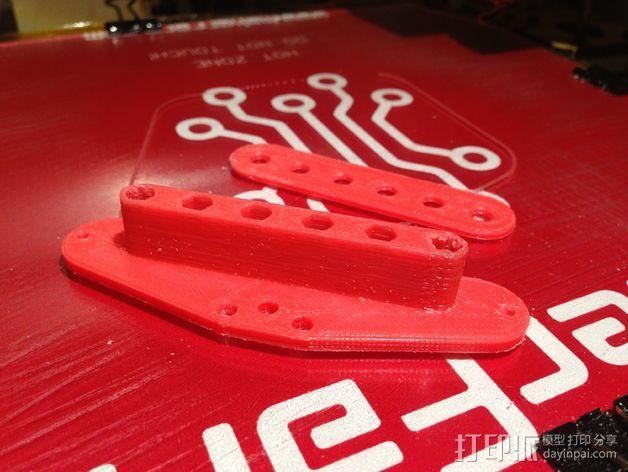 电吉他 拾音器支架 3D模型  图6