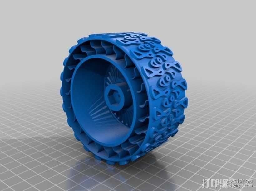 遥控赛车车轮 3D模型  图1