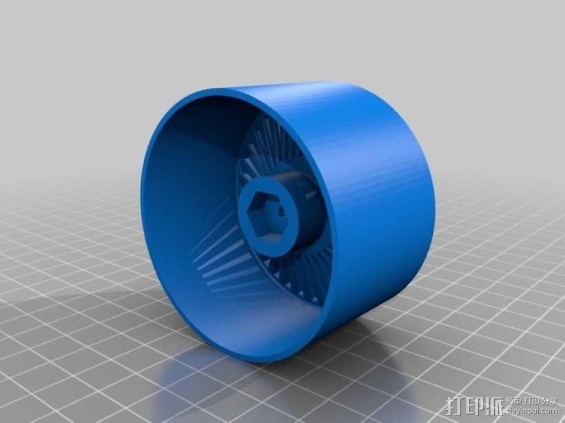 遥控赛车车轮 3D模型  图3
