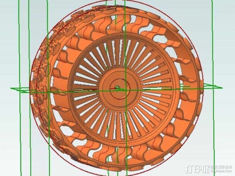 遥控赛车车轮 3D模型  图4