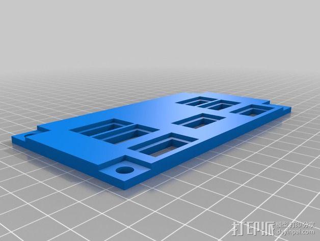 波音737飞机仪表盘面板 3D模型  图4