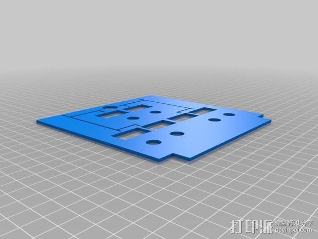 波音737飞机仪表盘面板 3D模型  图2