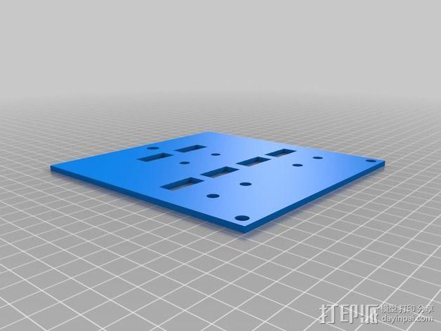 波音737飞机仪表盘面板 3D模型  图3