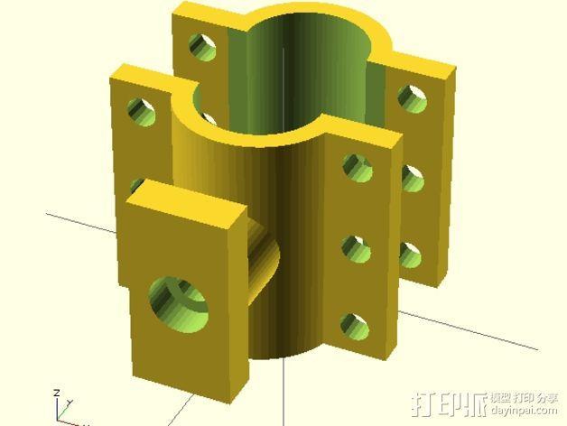 自行车电缆锁固定夹 3D模型  图3