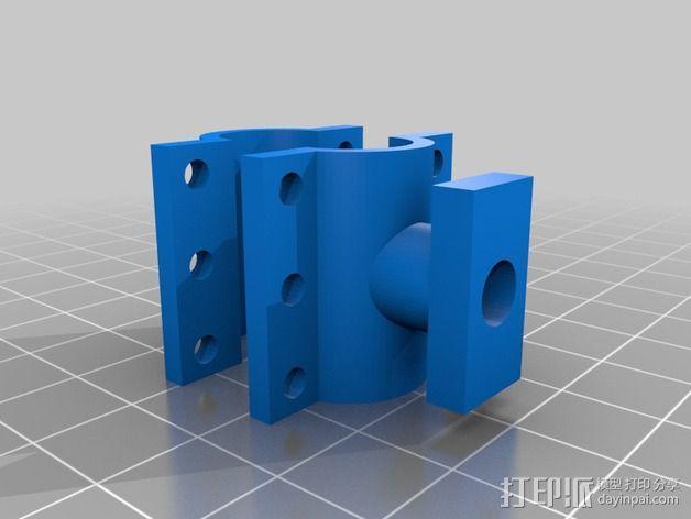 自行车电缆锁固定夹 3D模型  图2