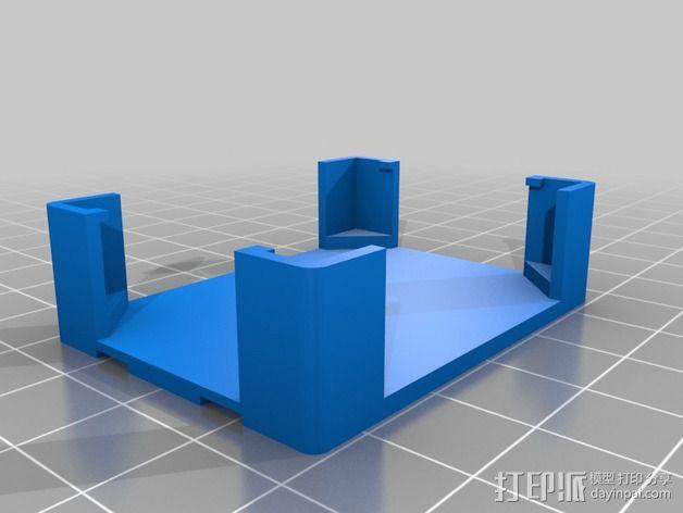 微型试验电路板外壳 3D模型  图3