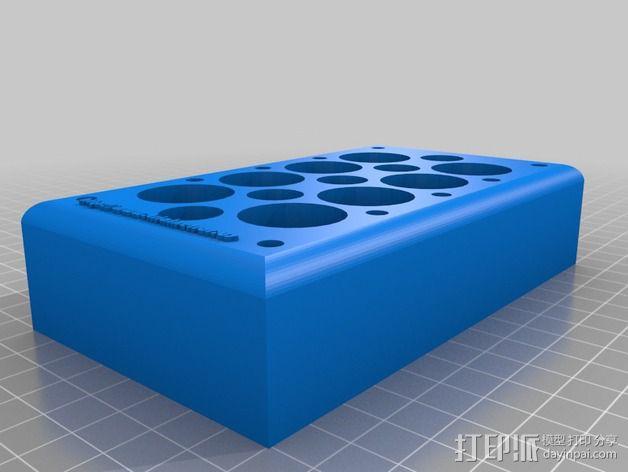 化学玻璃器皿 支架 3D模型  图2