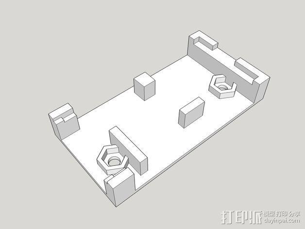 发射机支架 3D模型  图1