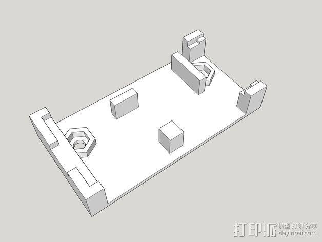 发射机支架 3D模型  图2