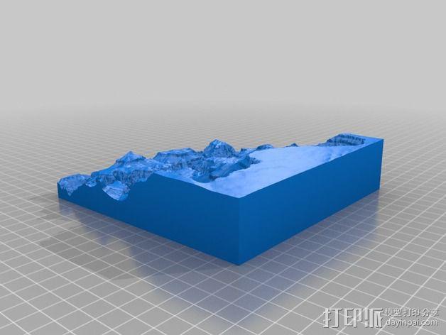 大峡谷南部区域 地形图 3D模型  图2