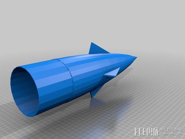 大功率火箭 3D模型  图2