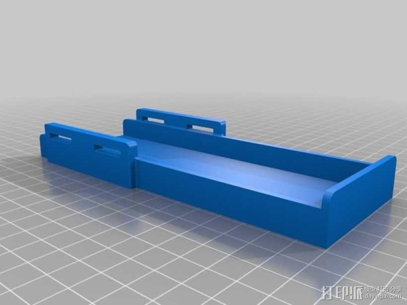 遥控飞机 电池架 3D模型  图2
