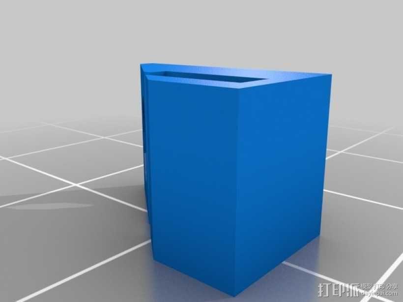 3毫米LED带固定夹 3D模型  图2