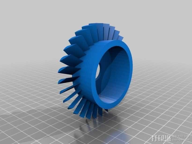 轴流压缩机 3D模型  图1