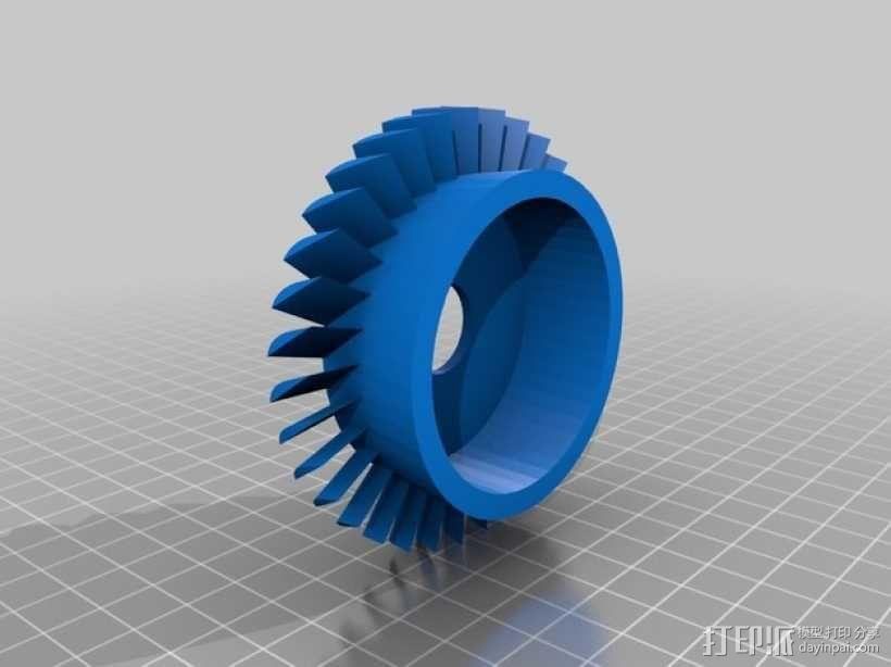 轴流压缩机 3D模型  图4