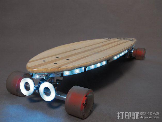 NeoPixel长板LED环 3D模型  图1