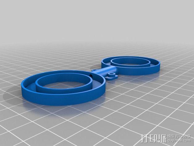 NeoPixel长板LED环 3D模型  图5