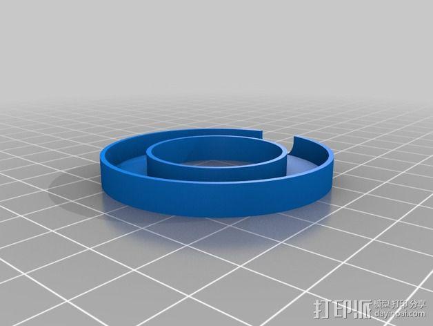 NeoPixel长板LED环 3D模型  图3