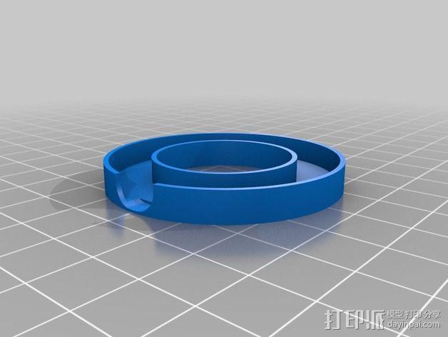 NeoPixel长板LED环 3D模型  图11
