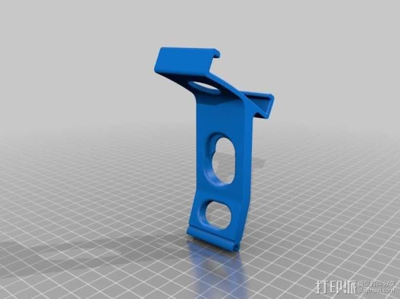 DJI phantom控制器 iPhone手机架 3D模型  图2