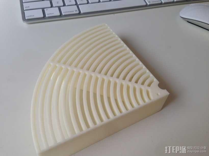 水桶 挡板 3D模型  图1