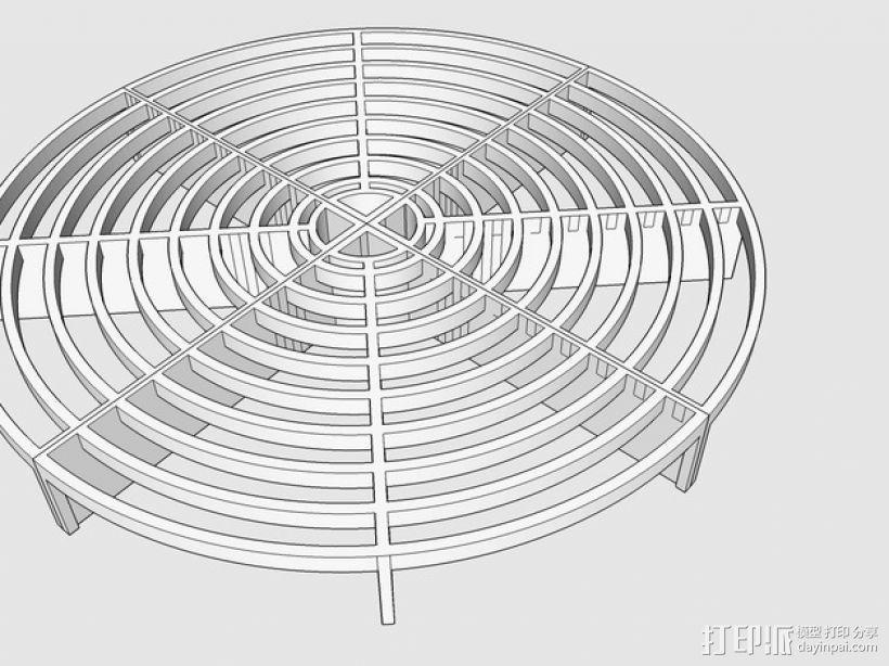 水桶 挡板 3D模型  图4