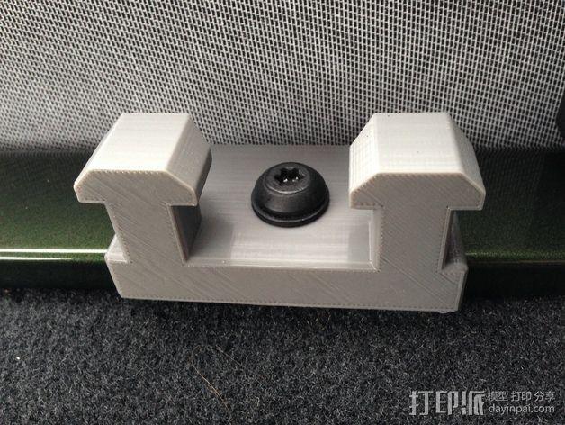 吉普牧马人JK 货物安装支架 3D模型  图3