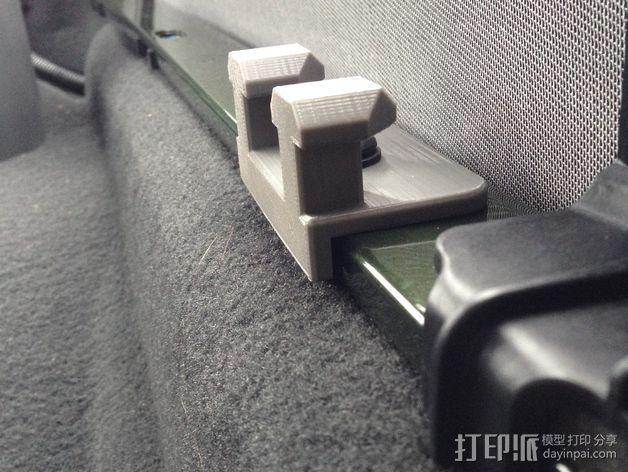 吉普牧马人JK 货物安装支架 3D模型  图4
