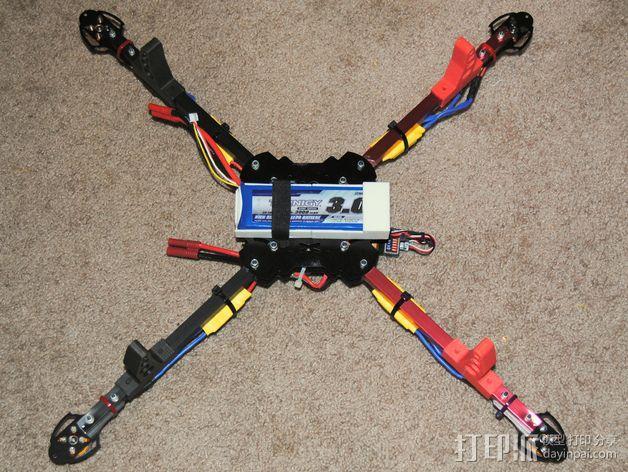 四轴飞行器 电池盒 3D模型  图4