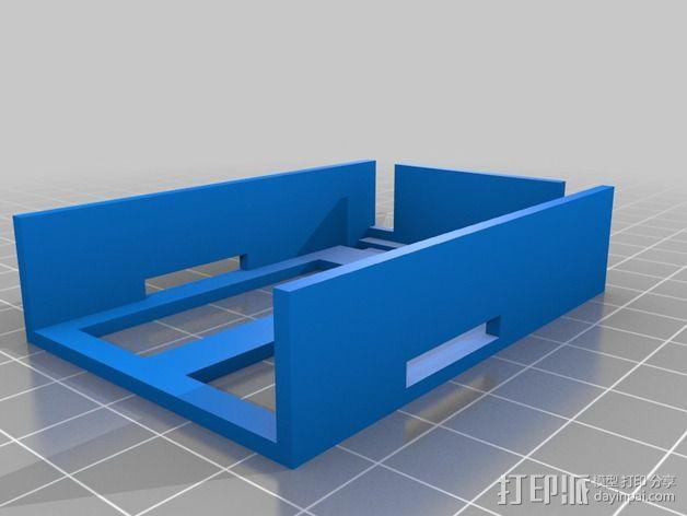 四轴飞行器 电池盒 3D模型  图3