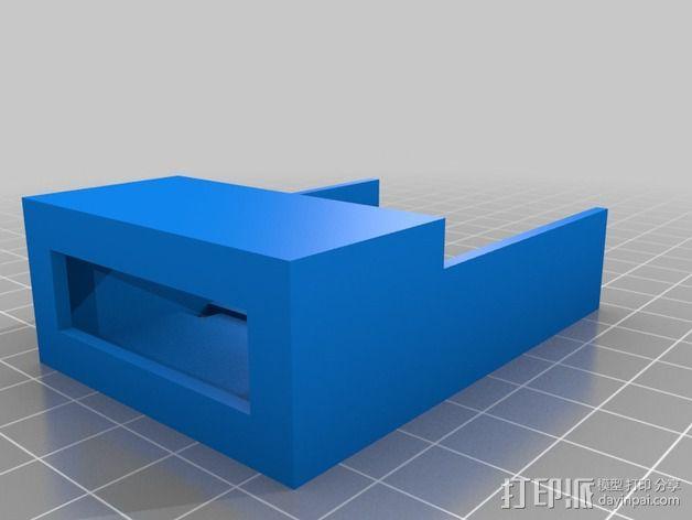 四轴飞行器 电池盒 3D模型  图2