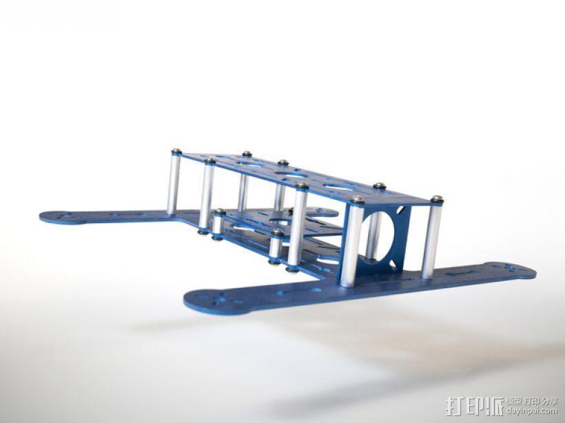 BlueDot四轴飞行器框架 3D模型  图1